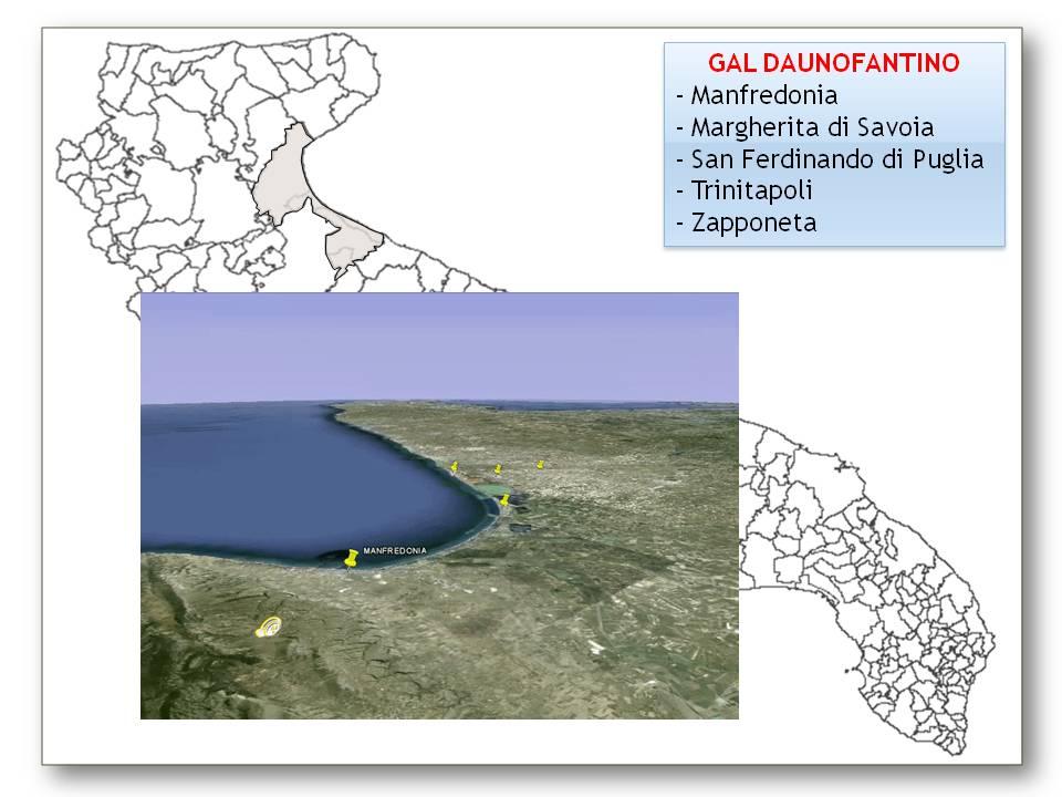 Mappa dei territori GAL